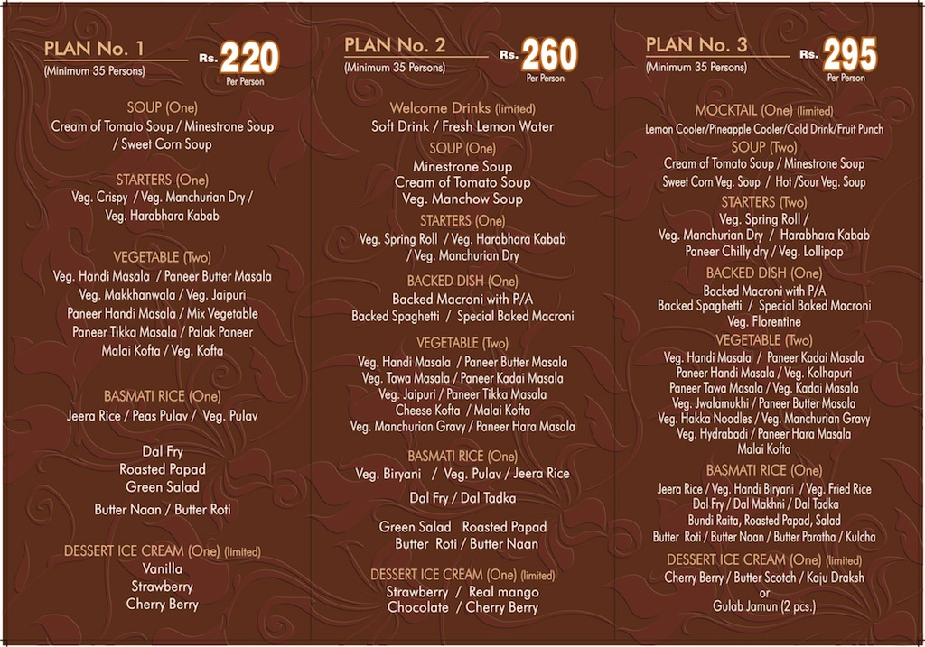 rajvee_banquet_gandhinagar_party_menu.jpg Gandhinagar, Gujarat, India. Gandhinagar, Gujarat, India.