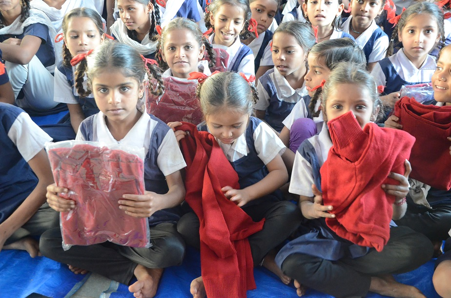 Sweater Distribution Campaign by Udgam Charitable Trust Gandhinagar, Gujarat, India.