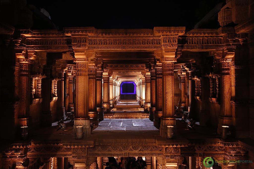adalaj_ni_vav_night_view_gandhinagar Gandhinagar, Gujarat, India.