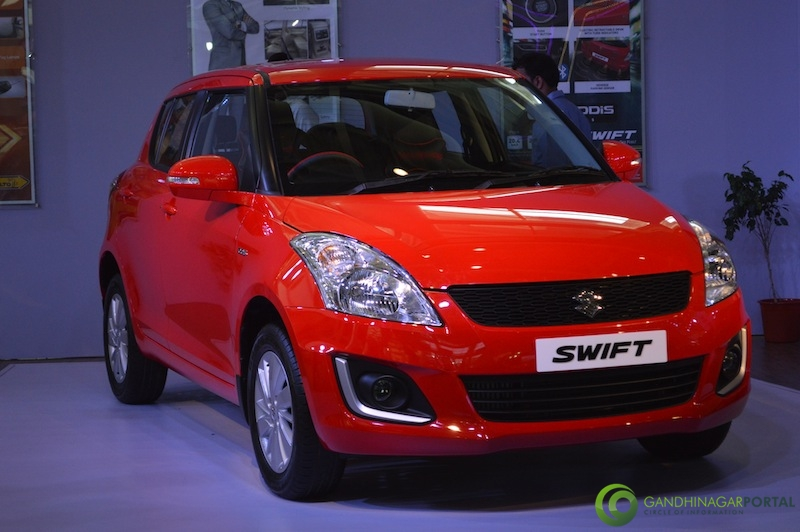 New Suzuki Swift at Autoshow 2014, Gandhinagar Gandhinagar, Gujarat, India.