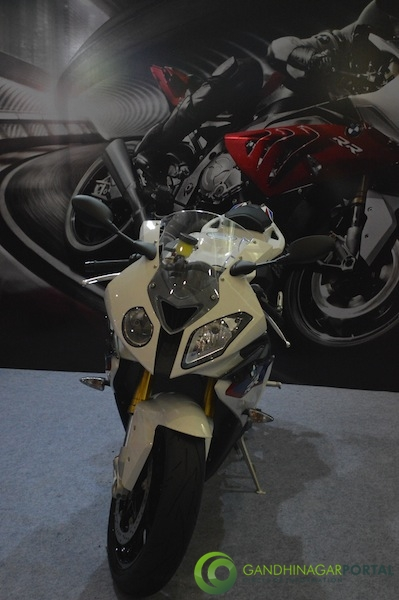 BMW Bike at Autoshow 2014, Gandhinagar Gandhinagar, Gujarat, India.