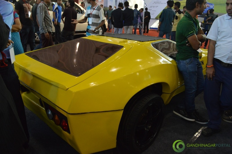 Electric Sports Car at CII Autoshow 2014, Gandhinagar Gandhinagar, Gujarat, India.