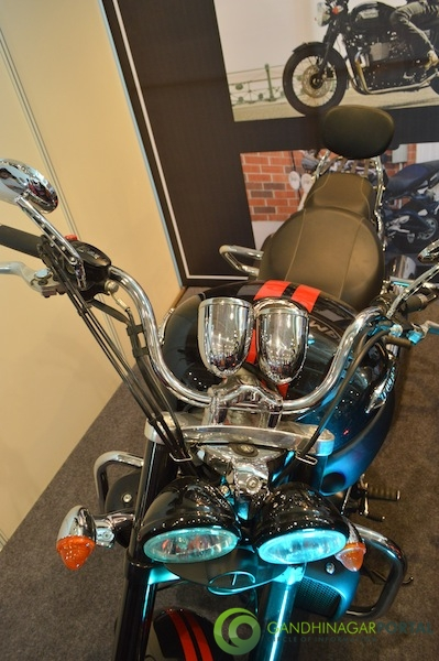 Triumph Bike at CII Autoshow 2014, Gandhinagar Gandhinagar, Gujarat, India.