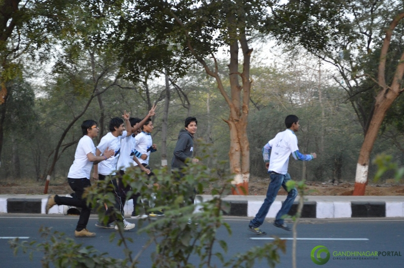 gandhinagar-daiict-youth-run-2013-14 Gandhinagar, Gujarat, India.