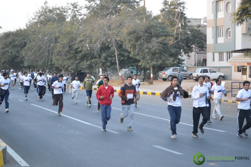 gandhinagar-daiict-youth-run-2013-15 Gandhinagar, Gujarat, India.