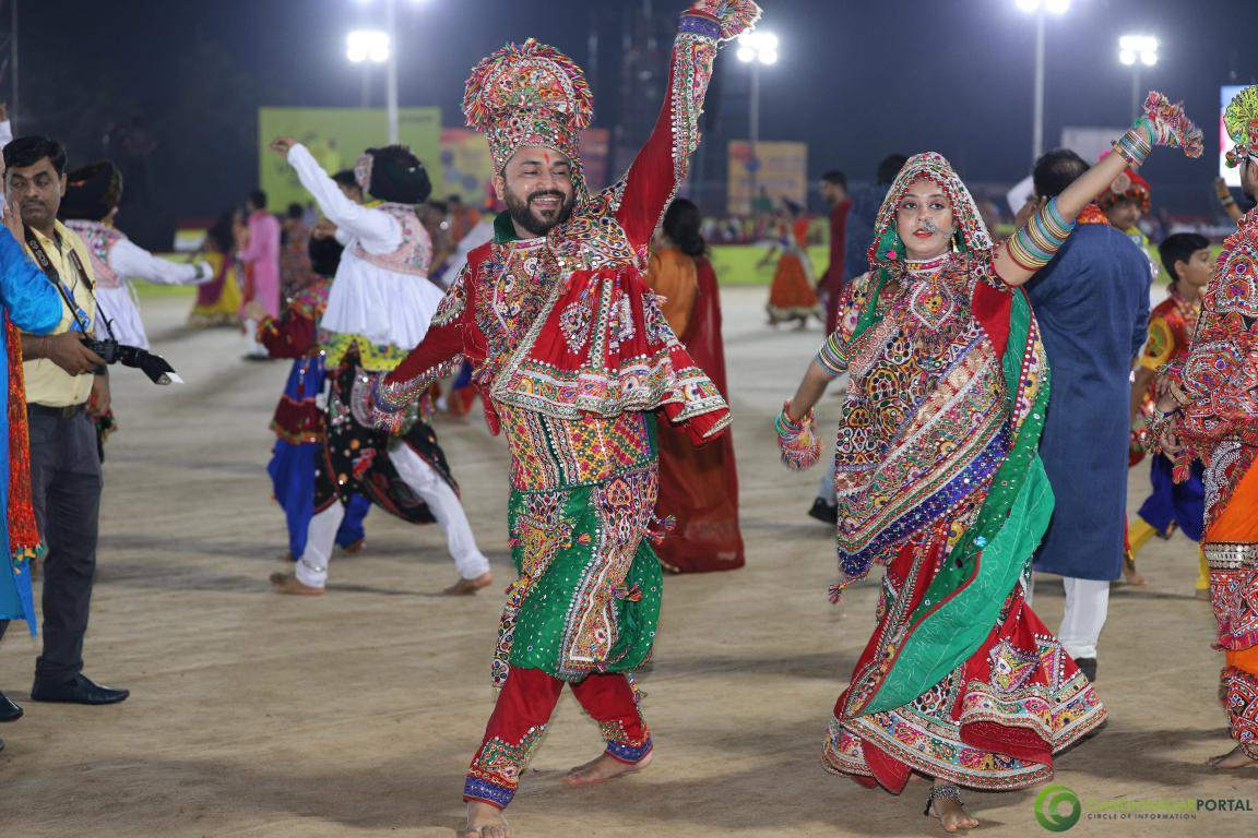 Live Images of Gandhinagar Culture Forum Navratri 2019 Day 4 Gandhinagar, Gujarat, India.