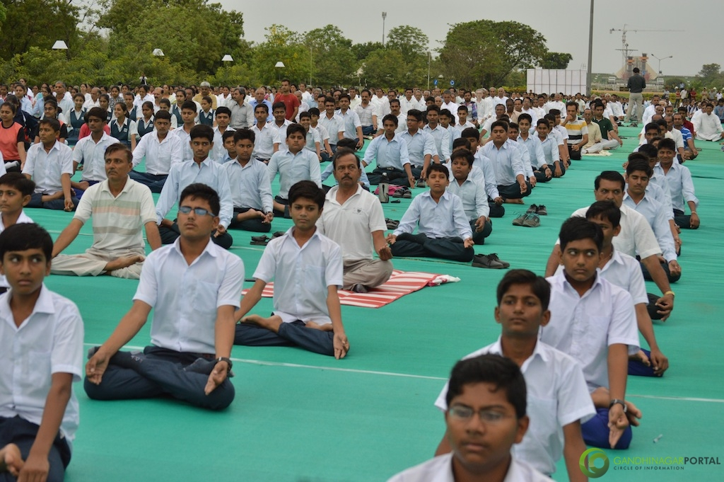 International Yoga Day 2015 - Gandhinagar Gandhinagar, Gujarat, India.