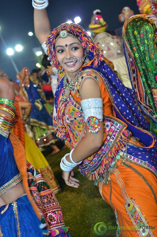 Garba Night 2016 Gandhinagar, Gujarat, India.