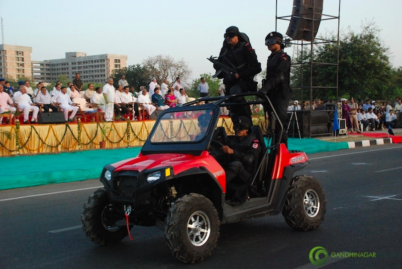 53rd Gujarat Sthapana Divas 2013 : All terrain Vehicle Gandhinagar, Gujarat, India.