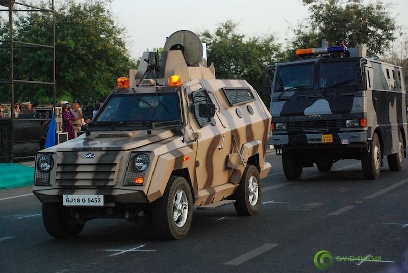 53rd Gujarat Sthapana Divas 2013: Bullet proof Vehicle Gandhinagar, Gujarat, India.