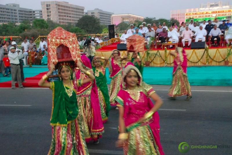 53rd Gujarat Sthapana Divas 2013 : Garbo Gandhinagar, Gujarat, India.