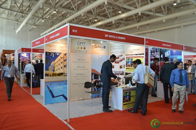 GRT Hotels and Resorts@ Gujarat Travel Mart 2013 @ Gandhinagar, Mahatma Mandir Gandhinagar, Gujarat, India.