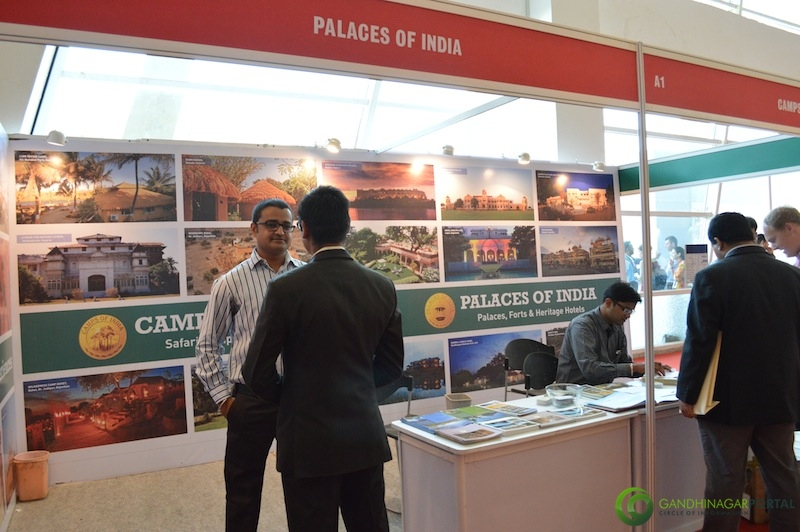 Palaces of India @ Gujarat Travel Mart 2013 @ Gandhinagar, Mahatma Mandir Gandhinagar, Gujarat, India.