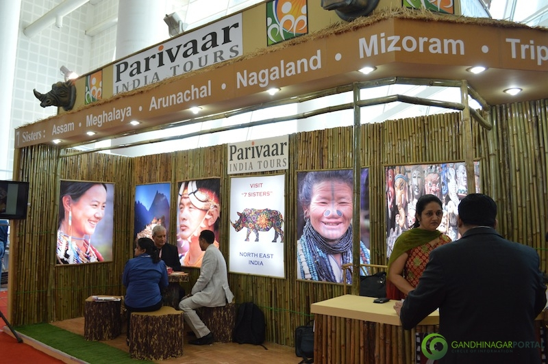 Parivaar India Tours and Travels @ Gujarat Travel Mart 2013 @ Gandhinagar, Mahatma Mandir Gandhinagar, Gujarat, India.