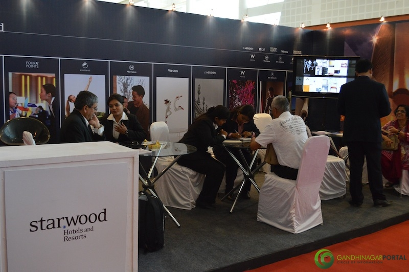 STARWOOD Hotels and Resorts @ Gujarat Travel Mart 2013 @ Gandhinagar, Mahatma Mandir Gandhinagar, Gujarat, India.