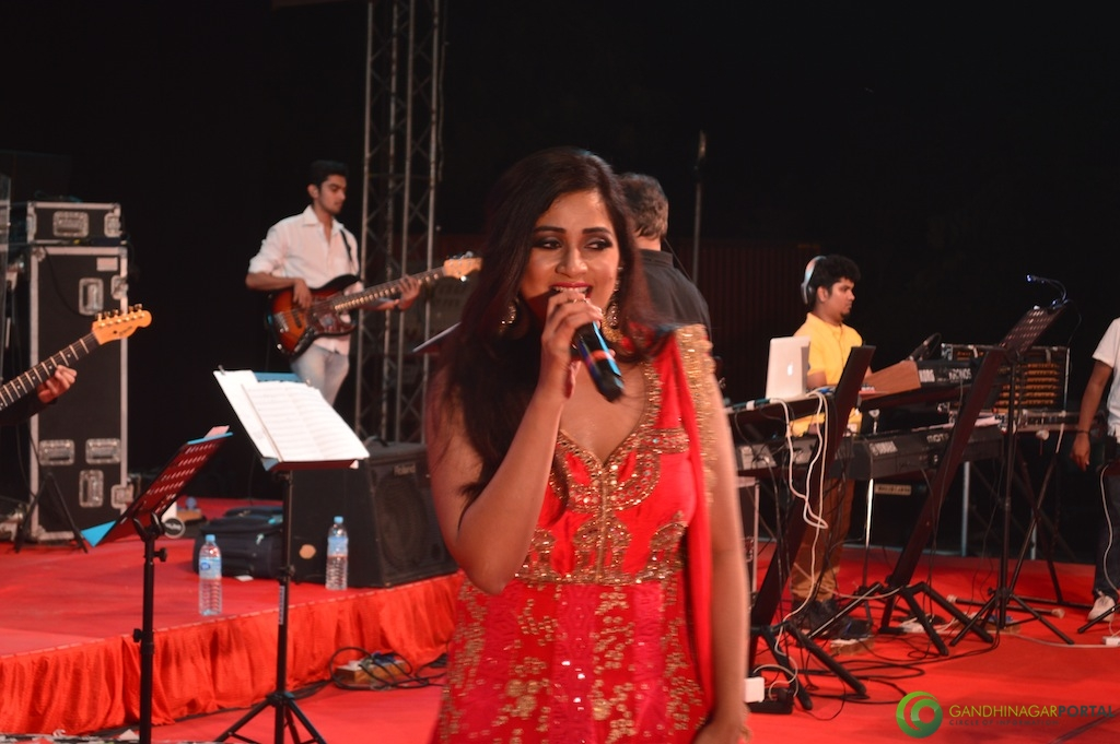 Shreya Ghoshal at performing at Gandhinagar Gandhinagar, Gujarat, India.