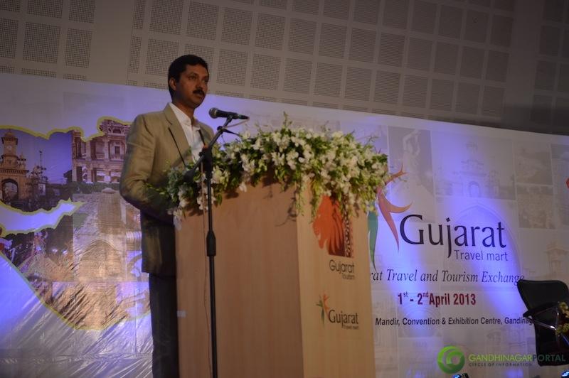 shri-modi-inaugural-ceremony-gujarat-travel-mart-2013-mahatma-mandir-gandhinagar-32 Gandhinagar, Gujarat, India.
