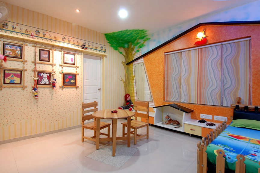 Kids_room_vertices_group_architects_gandhinagar Gandhinagar, Gujarat, India. Gandhinagar, Gujarat, India.