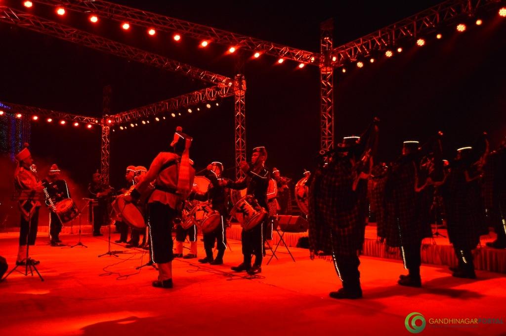 Army Band, BSF Band at Vibrant Gujarat 2015 Gandhinagar, Gujarat, India.