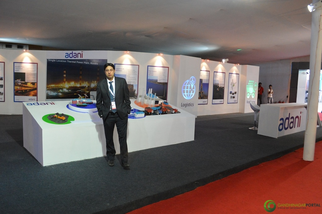 Adani Group @ Vibrant Gujarat Global Trade Show Gandhinagar 2013, 8th January 2013@ Exhibition Ground Gandhinagar