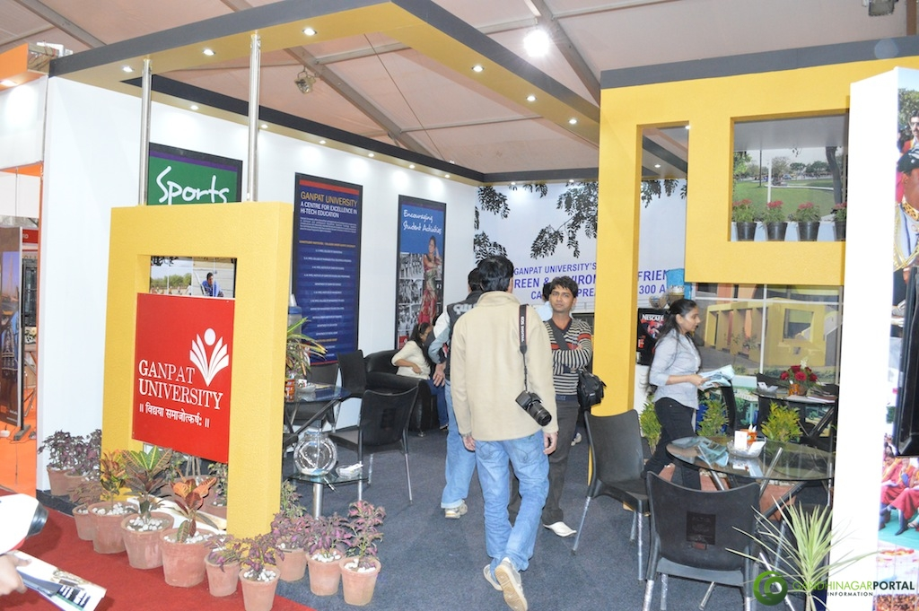 Ganpat University @ Vibrant Gujarat Global Trade Show Gandhinagar 2013, 8th January 2013@ Exhibition Ground Gandhinagar Gandhinagar, Gujarat, India.