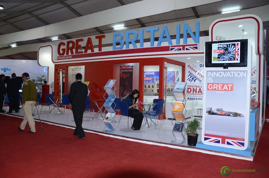 Great Britain @ Vibrant Gujarat Global Trade Show Gandhinagar 2013, 8th January 2013@ Exhibition Ground Gandhinagar Gandhinagar, Gujarat, India.