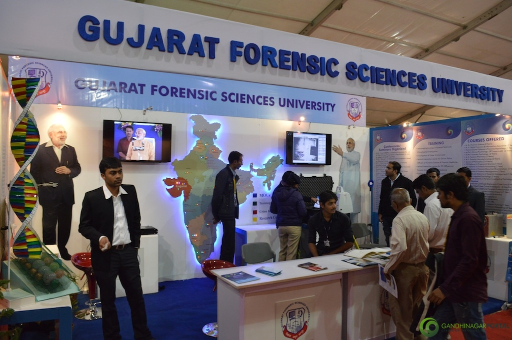 Gujarat Forensic Sciences University @ Vibrant Gujarat Global Trade Show Gandhinagar 2013, 8th January 2013@ Exhibition Ground Gandhinagar Gandhinagar, Gujarat, India.
