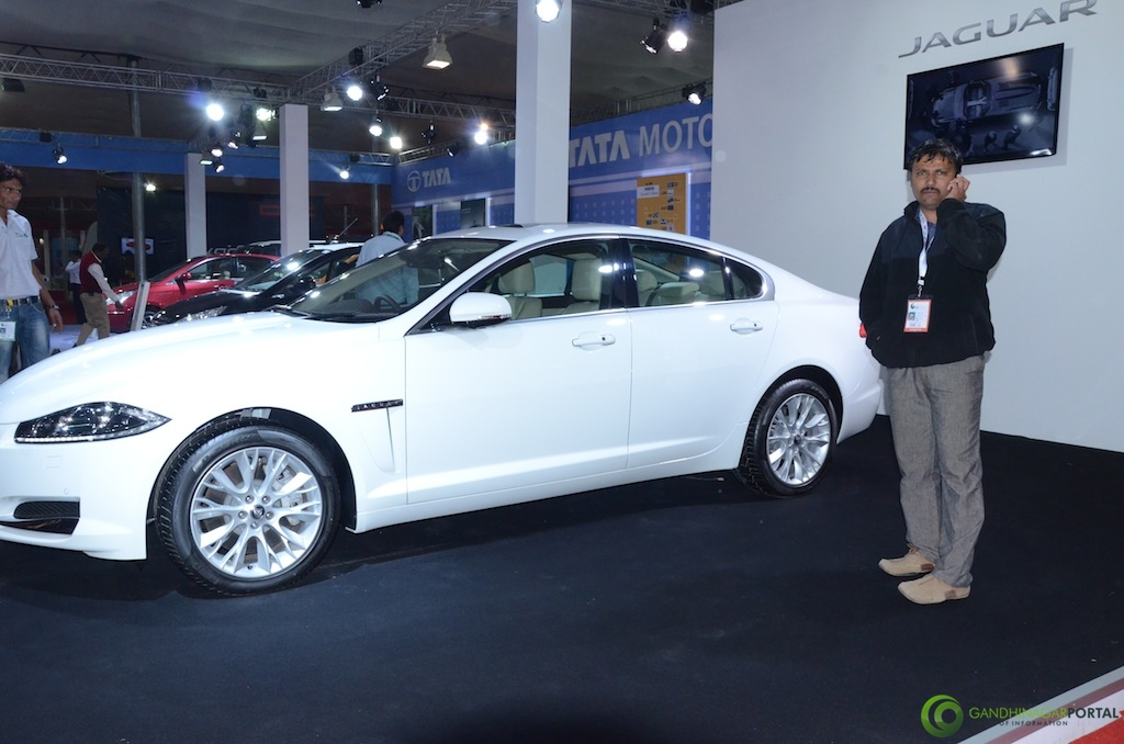 Jaguar @ Vibrant Gujarat Global Trade Show Gandhinagar 2013, 8th January 2013@ Exhibition Ground Gandhinagar