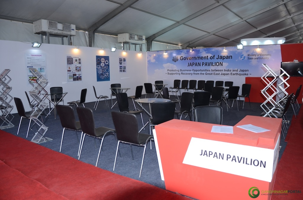 Japan Pavilion @ Vibrant Gujarat Global Trade Show Gandhinagar 2013, 8th January 2013@ Exhibition Ground Gandhinagar Gandhinagar, Gujarat, India.