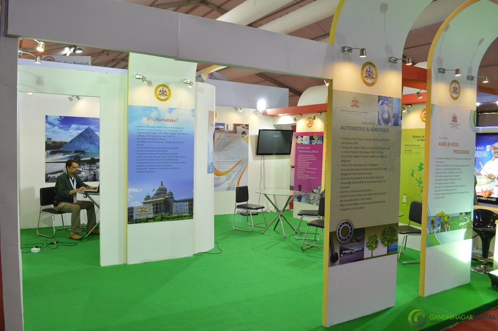 Karnataka @ Vibrant Gujarat Global Trade Show Gandhinagar 2013, 8th January 2013@ Exhibition Ground Gandhinagar Gandhinagar, Gujarat, India.