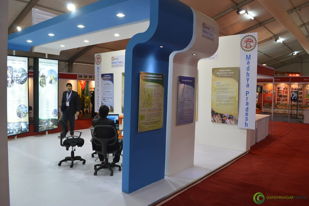 Madhya Pradesh @ Vibrant Gujarat Global Trade Show Gandhinagar 2013, 8th January 2013@ Exhibition Ground Gandhinagar