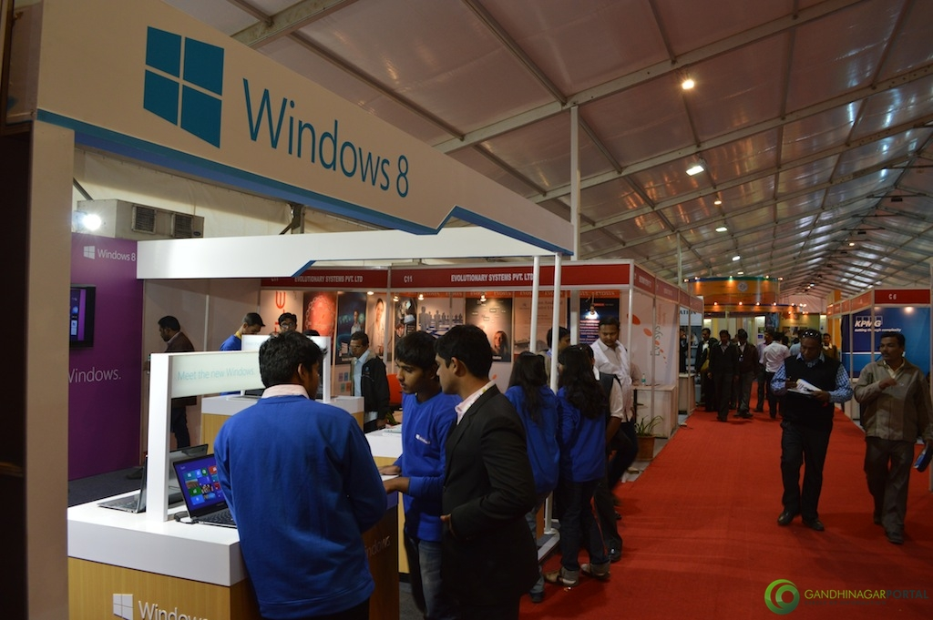 Microsoft Windows 8 @ Vibrant Gujarat Global Trade Show Gandhinagar 2013, 8th January 2013@ Exhibition Ground Gandhinagar