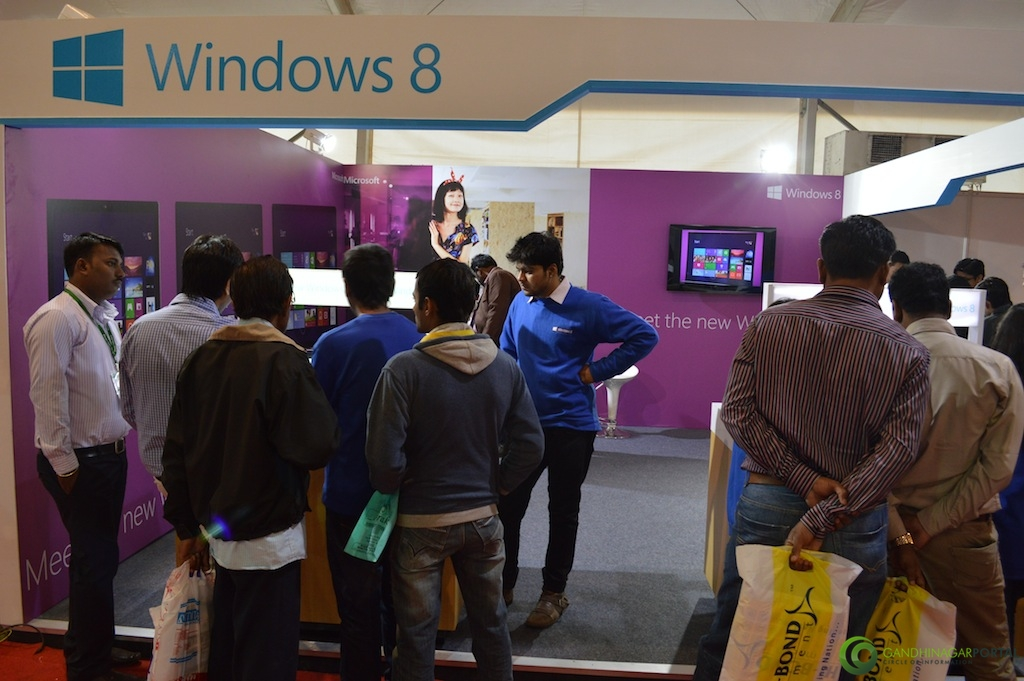 Microsoft Windows 8 @ Vibrant Gujarat Global Trade Show Gandhinagar 2013, 8th January 2013@ Exhibition Ground Gandhinagar Gandhinagar, Gujarat, India.