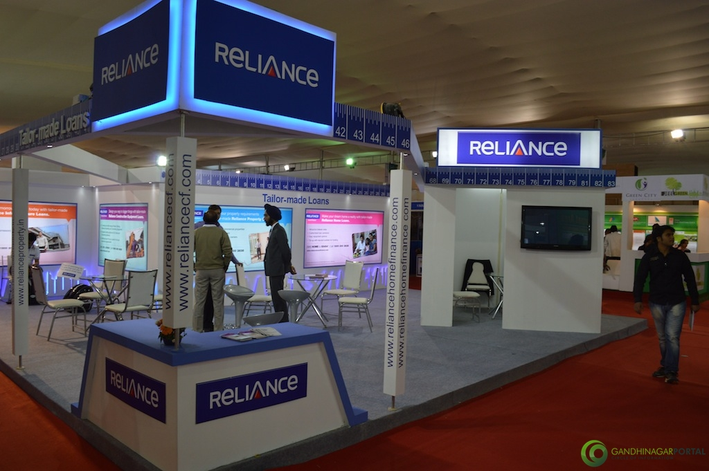 Reliance Industries @ Vibrant Gujarat Global Trade Show Gandhinagar 2013, 8th January 2013@ Exhibition Ground Gandhinagar Gandhinagar, Gujarat, India.