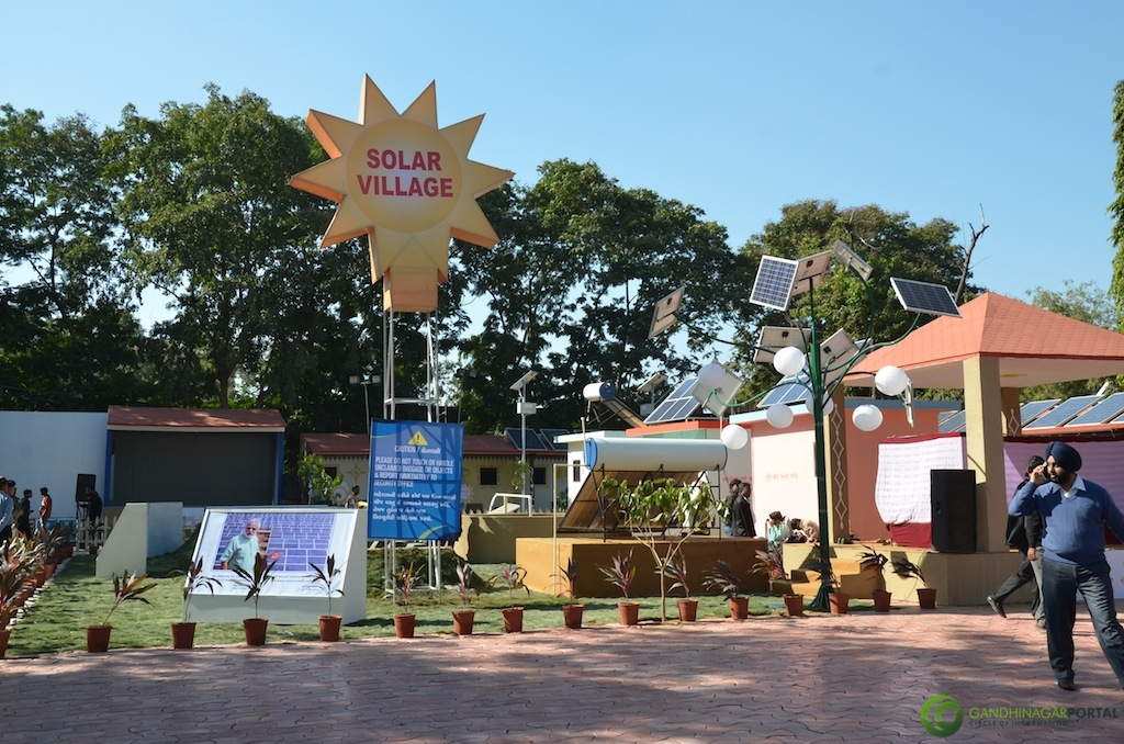 Solar Village Concept @ Vibrant Gujarat Global Trade Show Gandhinagar 2013, 8th January 2013@ Exhibition Ground Gandhinagar Gandhinagar, Gujarat, India.