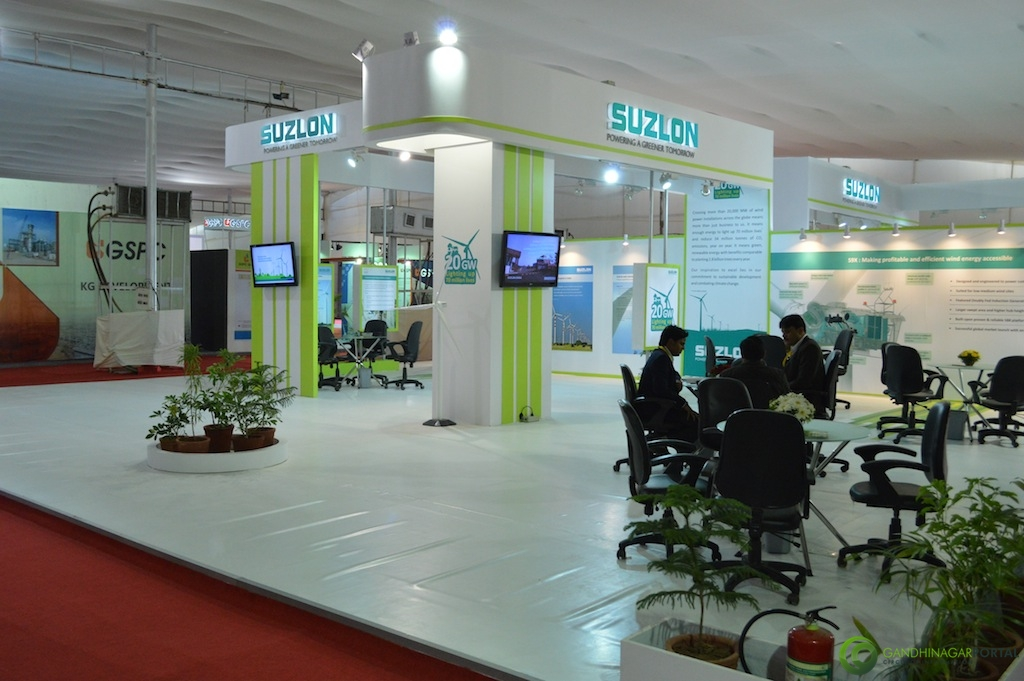 SUZLON @ Vibrant Gujarat Global Trade Show Gandhinagar 2013, 8th January 2013@ Exhibition Ground Gandhinagar Gandhinagar, Gujarat, India.