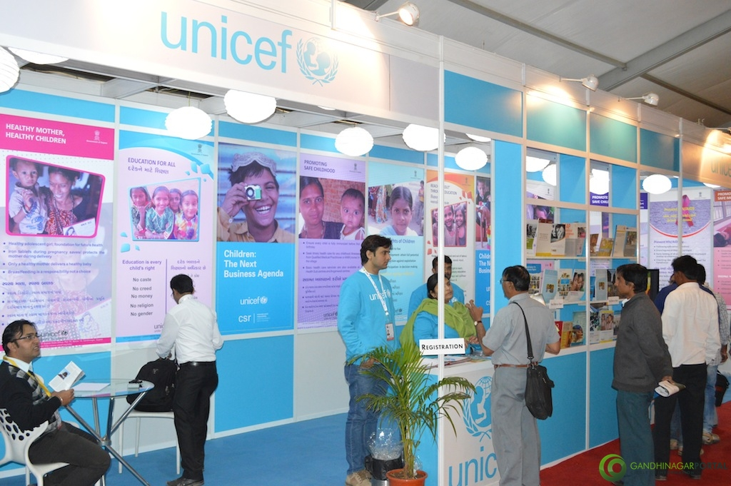 UNICEF @ Vibrant Gujarat Global Trade Show Gandhinagar 2013, 8th January 2013@ Exhibition Ground Gandhinagar Gandhinagar, Gujarat, India.