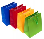 Shopping bags isolated