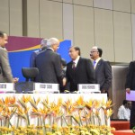 Mukesh Ambani with Foreign Delegate at 6th Vibrant Gujarat Global Summit 2013- Mahatma Mandir, Gandhinagar Gandhinagar, Gujarat, India.