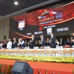 Standing Ovation  to Shri Narendra Modi at 6th Vibrant Gujarat Global Summit 2013- Mahatma Mandir, Gandhinagar Gandhinagar, Gujarat, India.