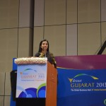 Chanda Kochar- ICICI Bank Ltd. (C.E.O) Speaks at Vibrant Gujarat Global Summit 2013- Mahatma Mandir, Gandhinagar Gandhinagar, Gujarat, India.