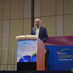 Hari Bhartia- Chairman Jubilant Lifesciences speaks at 6th Vibrant Gujarat Global Summit 2013- Mahatma Mandir, Gandhinagar Gandhinagar, Gujarat, India.
