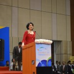 Renu Khator- University of Houston-Chancellor speaks at 6th Vibrant Gujarat Global Summit 2013- Mahatma Mandir, Gandhinagar Gandhinagar, Gujarat, India.