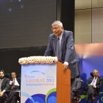 L&T Head speaks at 6th Vibrant Gujarat Global Summit 2013- Mahatma Mandir, Gandhinagar Gandhinagar, Gujarat, India.