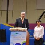 konstantin Markelov- Astrakhan Region speaks at 6th Vibrant Gujarat Global Summit 2013, Mahatma Mandir, Gandhinagar Gandhinagar, Gujarat, India.