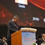 Shashi Ruia -ESSAR Group Chairman speaks at 6th Vibrant Gujarat Global Summit 2013- Mahatma Mandir, Gandhinagar Gandhinagar, Gujarat, India.