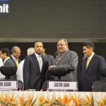 Anil Ambani with other Delegates at 6th Vibrant Gujarat Global Summit 2013- Mahatma Mandir, Gandhinagar Gandhinagar, Gujarat, India.