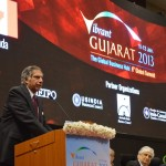 Shri Ratan Tata speaks at  Inaugural Ceremony of 6th Vibrant Gujarat Global Summit 2013- Mahatma Mandir, Gandhinagar  Gandhinagar, Gujarat, India.
