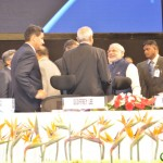 Shri Narendra Modi,congratulated at 6th Vibrant Gujarat Global Summit 2013- Mahatma Mandir, Gandhinagar Gandhinagar, Gujarat, India.