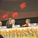 Shri Narendra Modi, Sewart Beck & Sir Ratan Tata at 6th Vibrant Gujarat Global Summit 2013- Mahatma Mandir, Gandhinagar Gandhinagar, Gujarat, India.